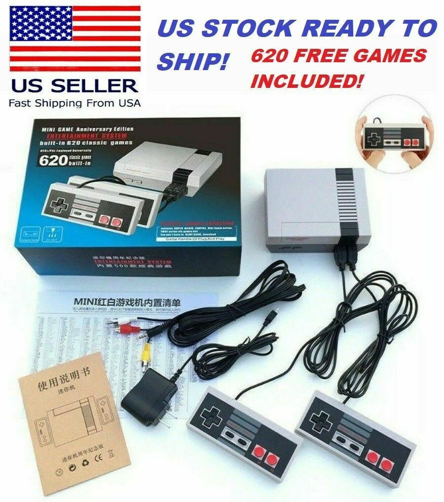 Mini Edition Classic Games Console Built-in 620 Retro TV Games  USA seller