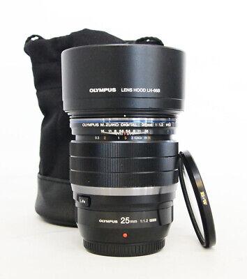 # Olympus M. Zuiko ED 25mm f/1.2 PRO Lens + BW Filter S/N 03971