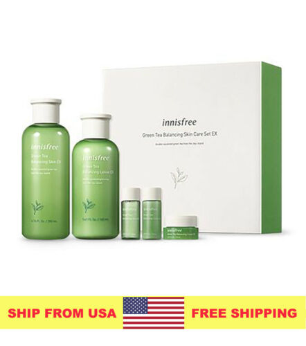 [Innisfree] Green Tea Balancing Skin Care Set EX - SHIP FROM U.S.A
