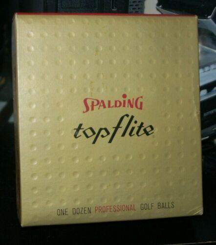 Vintage Spalding Top Flite Golf Balls Box of 12 New Old Stock