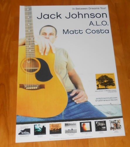 Jack Johnson A.L.O. Matt Costa Poster 2005 Promo Original 11x17 RARE