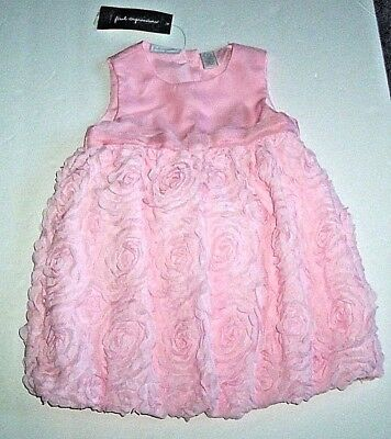 FIRST IMPRESSIONS BABY GIRLS PINK FANCY DRESS PANTIES 18 MO 2 PC SET FLOWERS NWT - Fancy Baby Panties
