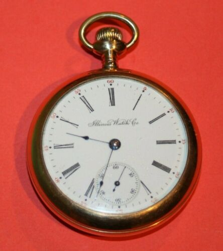 1904 Illinois 18S Grade 59 Model 6 15J POCKET WATCH - LOOKS AND WORK GREAT!!