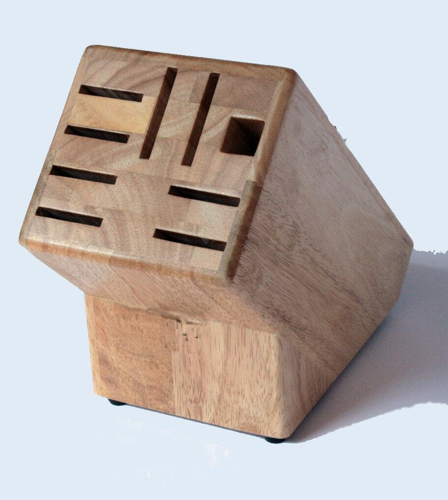 Massiver Universal-MESSERBLOCK ohne Messer unbestückter Block