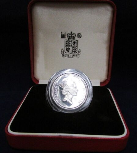 United Kingdom Silver Proof Piedfort - One Pound Coin - Royal Mint - UNC