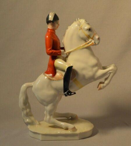 Vintage Hutschenreuther German Porcelain Figurine - Lipizzan Horse and Rider