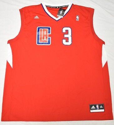 Adidas Chris Paul LA Clippers #3 Men's 2XL XXL NBA Replica Road Jersey Red N983 ()