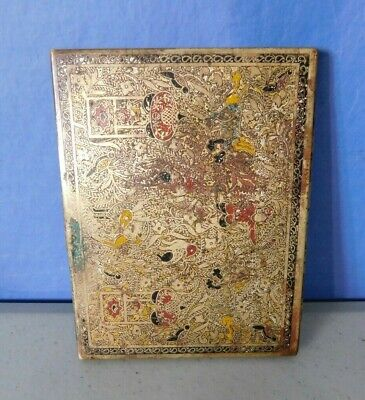 Vintage Copper Brass Business Card Holder Very Worn But Still Works Great