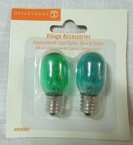 Department 56 Accessory Replacement 120 Volt Blue & Green Light Bulbs