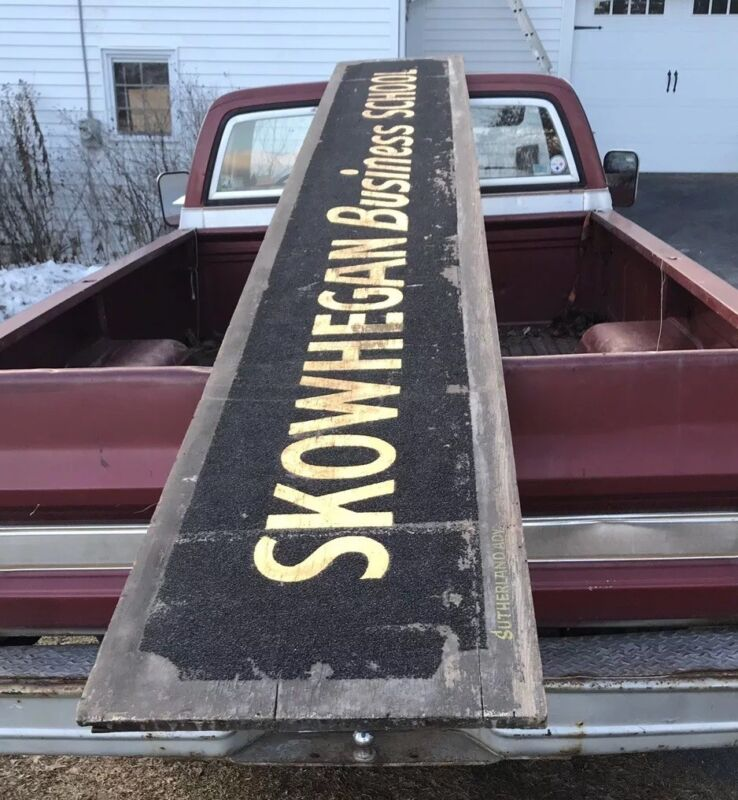 Carpenter Insurance Skowhegan Business School Antique Old Sign Maine Me Wooden