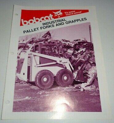 Bobcat Skid Steer Loader Industrial Pallet Forks Grapples Sales Brochure 479