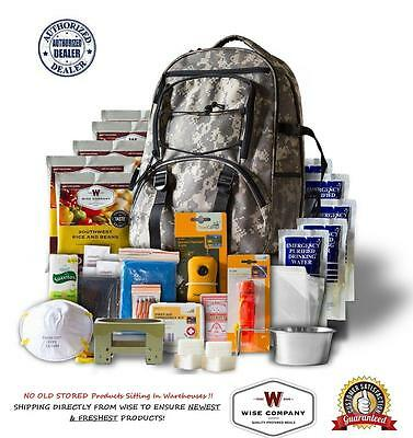 Wise Company ~ 5 Day Survival Back Pack Bug out Bag Emergency Food ~ CAMO
