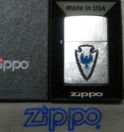ZIPPO  ARROWHEAD Lighter BLUE PHOENIX New In Box  29101 PEWTER EMBLEM Southwest