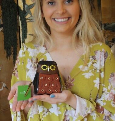 NWT Kate Spade SOLD OUT Maximillian Minerva Wise Owl Patent Coin Purse