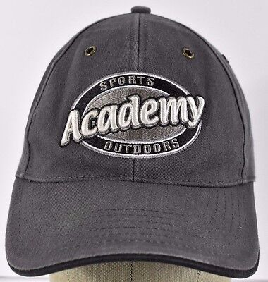 Gray Sports Academy Outdoors Embroidered Baseball Hat Cap Adjustable Strap