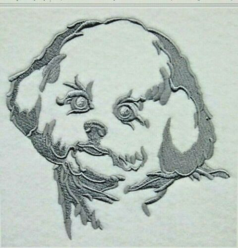 BICHON FRISE SILHOUETTE Personalized Embroidered Fleece Stadium Blanket Gift