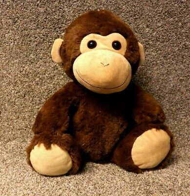 Baby Plush Monkey Brown w Tan Face Ears & Feet Stuffed Fluffy Monkey Toy 16""