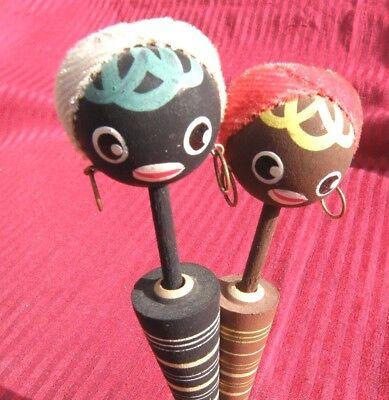 Japanese Folk Art Toy Mingei antique AFRICAN LADIES JAPAN black americana doll