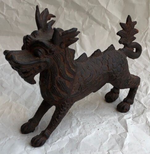 VINTAGE BRONZE GRIFFIN FIGURE