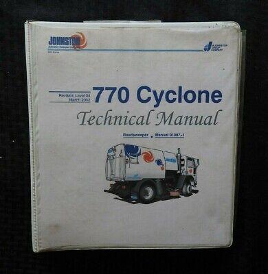 2002 Johnston 770 Cyclone Street Sweeper Broom Service Repair Manual Wbinder