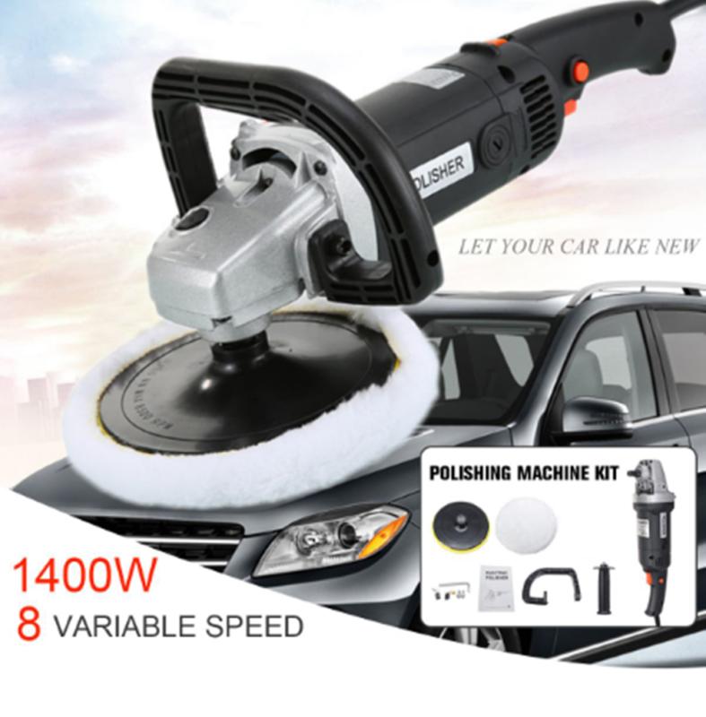 Auto Car Paint Polisher/Buffer Waxer 110V 1400W Electric 8 V