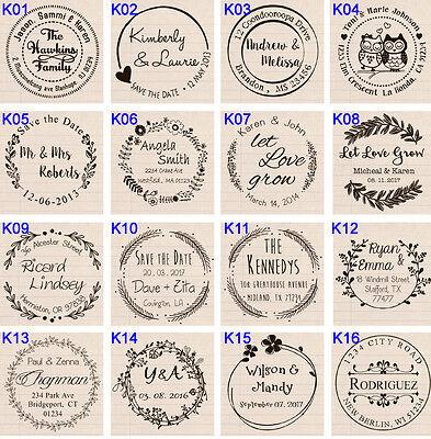 (Custom Self Inking business family return address wedding round rubber stamp )