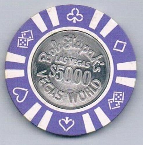 Vegas World Hotel $5,000.00 Bob Stupak Casino Chip Las Vegas Nevada