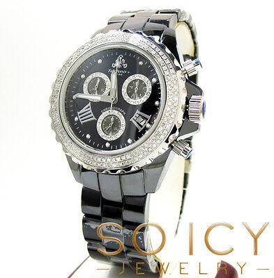 1 35T Techno By Jpm Mens Diamond Black Ceramic Watch Joe Rodeo Aqua Master
