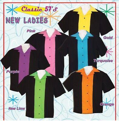 Ladies Retro Bowling Shirt 50's Style ~ Classic 57 Womens Bowling Shirts by Tutt Classic 50's Retro Shirt
