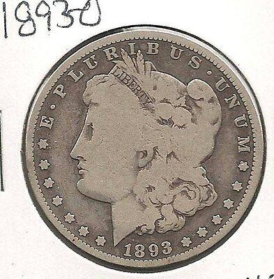 1893-O MORGAN DOLLAR :  GOOD