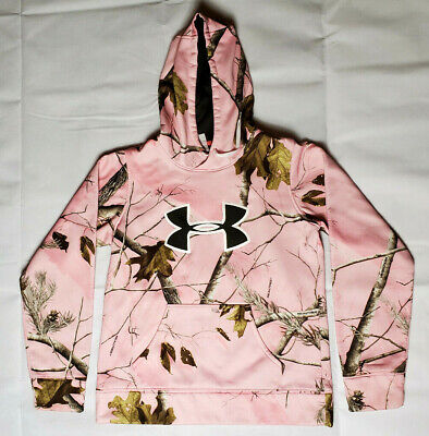 Under Armour Pink Loose Fit Realtree Camo Pullover Hoodie Women's Medium