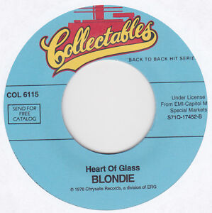 Blondie - Heart Of Glass / The Tide Is High - 7
