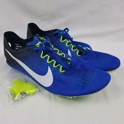 b3fefe87ec8 Nike Zoom Victory 3 Track Shoes Men s Sz 12 Blue Racing Spikes 835997-413
