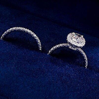 3.55 Ct Cushion Cut Diamond Engagement Ring & Matching Band G,VS1 GIA Platinum 2