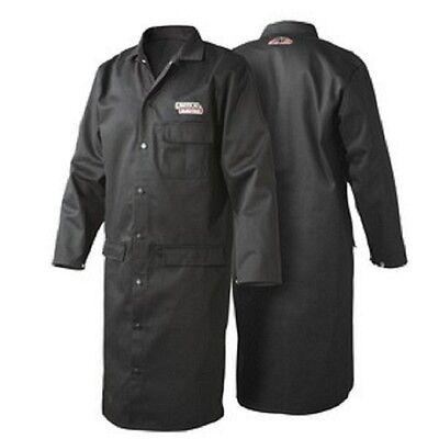 Lincoln Black Flame Retardent Lab Coat - Medium K3112-m