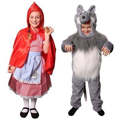 KINDER ROTKÄPPCHEN GROßER BÖSER WOLF KOSTÜM VERKLEIDUNG BUCHWOCHE FASCHING - Rotkäppchen Wolf Kostüm Kinder