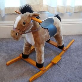 Rocking Horse With Galloping & Neighing Sounds. Good Condition