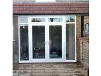 EXTERNAL UPVC DOUBLE GLAZED FRENCH / PATIO DOORS IN FRAME