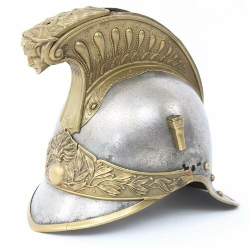 1872 French Cuirassier Dragoon Cavalry Helmet nice metal Napoleonic Empire type