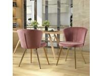 Brand new stunning Pink Velvet Dining or Accent Chairs