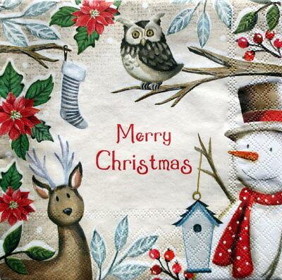 Christmas Eule Schneemann Weihnachten basteln  (Merry Christmas Schneemann)