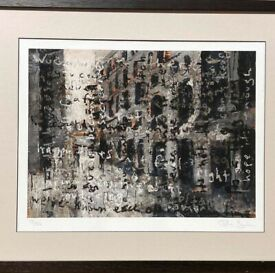 STONE ROSES JOHN SQUIRE LIMITED EDITION ARTWORK SIGNED