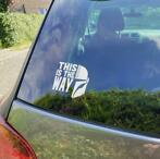 "Star Wars The Mandalorian ""This is the Way"" Vinyl Sticker"