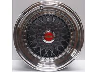 "Brand New BBS RS Grey 15"" inch Alloy Wheels 7J, 8J, 4x100/108, VW, GOLF, POLO, CADDY, MX5, LUPO, A1,"