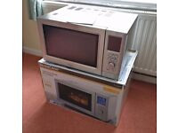 SilverCrest Stainless Steel 900W Microwave with Grill & Fan Oven *Boxed with Manual*
