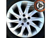 "16"" Genuine alloys VW Golf Caddy Seat Leon etc perf cond excel tyres."