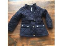 Navy Quilted Jacket from NEXT clothing. Aged 3-4 yrs