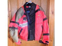 Motrax armoured motorbike jacket large, and Bufallo trousers size medium