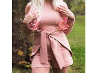 Lavish Alice Playsuit - colour nude/pale pink - for sale