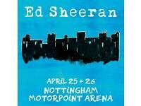 4x Ed Sheeran Tickets Nottingham